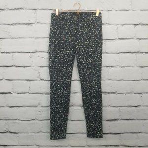 J Brand Super Skinny Jeans  Black Geometric Print